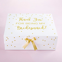 Thank You For Being My Bridesmaid Kit Gift Box (White)