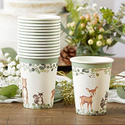 Woodland Baby 8 oz. Paper Cups (Set of 16)