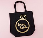 Personalized Team Bride Canvas Tote