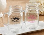 Personalized 16 oz. Mason Jar Mug - Baby Shower