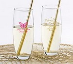 Personalized 9 oz. Stemless Champagne Glass - Brunch