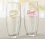 Personalized 9 oz. Stemless Champagne Glass - Party Time