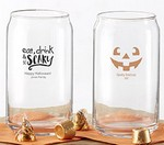 Personalized 16 oz. Can Glass - Halloween