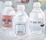 Personalized Water Bottle Labels - Nautical Baby Shower Collection