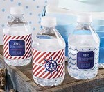 Personalized Water Bottle Labels - Nautical Birthday Collection