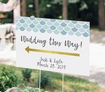 Personalized Directional Sign (18x12) - Seaside Escape