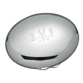 Personalized Oval Hinged Compact Mirror