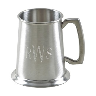 Personalized 16 oz. Matte Finish Pewter Beer Tankard Mug