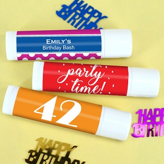 Adult Birthday Personalized Lip Balm (White Tube)