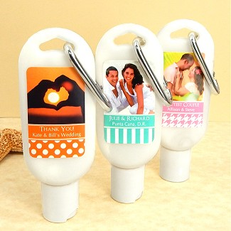 Personalized Photo Sunscreen with Carabiner (SPF 30)