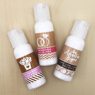 Personalized Hand Lotion Favors
