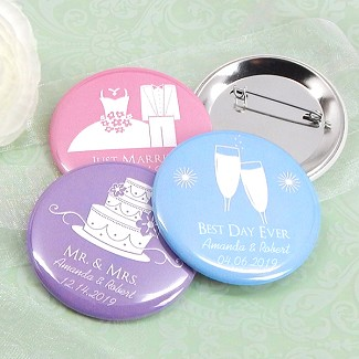 "Personalized Buttons - Silhouette Collection (2.25"")"