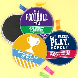 "Personalized Magnet Favors (2.25"") - Sports Themed"