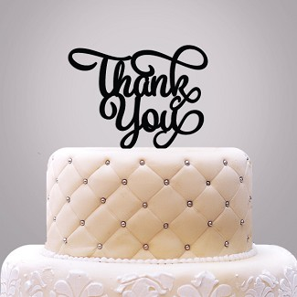 """Thank You"" Cake Topper"