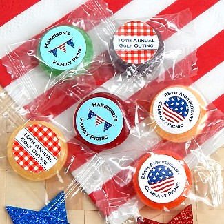Personalized Patriotic Life Savers Candy