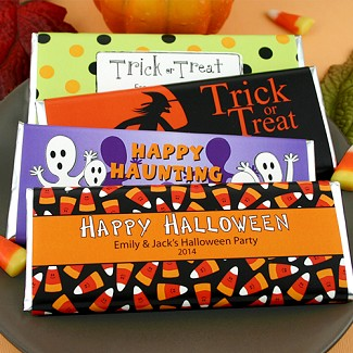 Personalized Halloween Hershey's Bar Wrappers