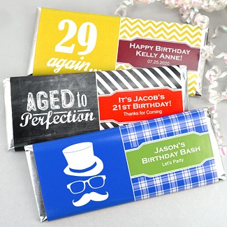 Personalized Adult Birthday Hershey's Bar Wrappers