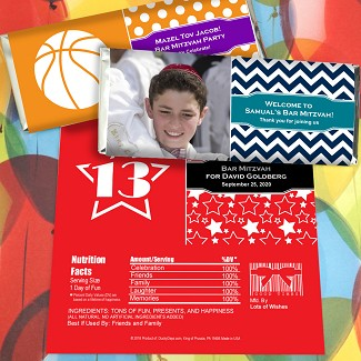Bar Mitzvah & Bat Mitzvah Personalized Hershey's Bar Wrappers