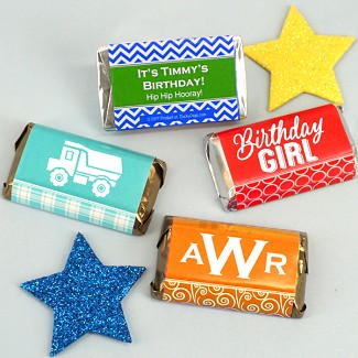 Personalized Kids Birthday Hershey's Miniatures Wrappers