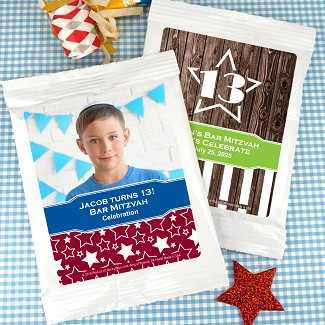 Bar Mitzvah & Bat Mitzvah Personalized Cocoa Favors