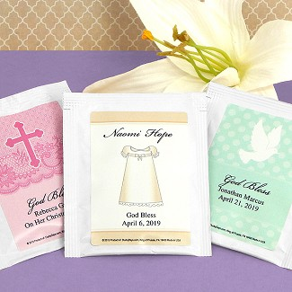 Personalized Religious Tea Favors