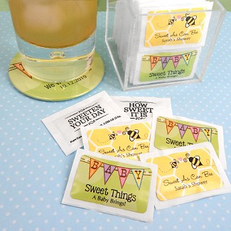 Personalized Baby Shower Sugar Packets (Set of 100)