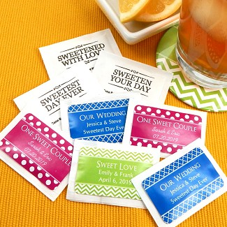 Personalized Sugar Packets - Silhouette Collection (Set of 100)