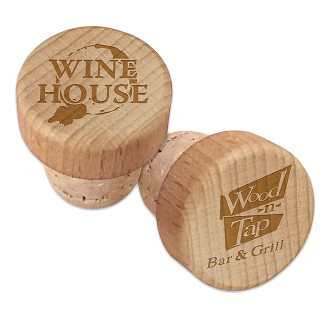 Custom Corporate Wood Wine Bottle Stopper