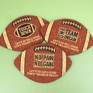 Personalized Football Cork Coaster