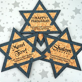 Star of David Personalized Cork Coaster