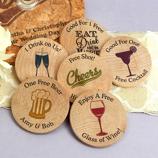 Personalized Wooden Nickels