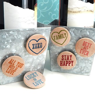 """Inspirational"" Wooden Magnets (Set of 36) - 15 Colors Options"