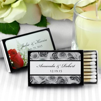 Personalized Matches - Set of 50 (Black Box)