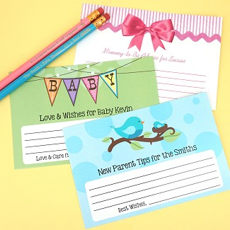 Personalized Baby Shower Advice Cards (Set of 25)