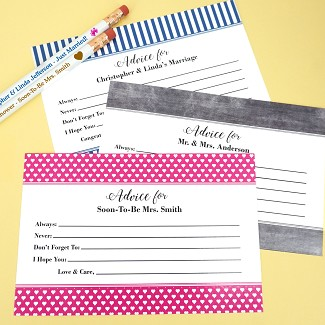 """Fill In The Blanks"" Personalized Advice Cards (Set of 25)"