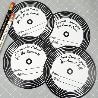 Vinyl Record Personalized Song Request Coasters