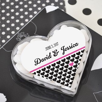 Personalized Heart Acrylic Favor Boxes
