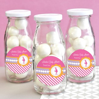 Going to Pop - Pink Personalized Milk Bottles