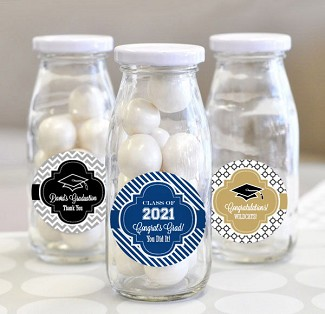 Personalized Graduation Milk Bottles