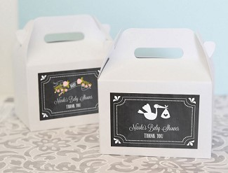 Chalkboard Baby Shower Personalized Mini Gable Boxes (set of 12)