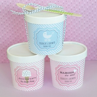 """Babies are Sweet"" Personalized Mini Ice Cream Containers"