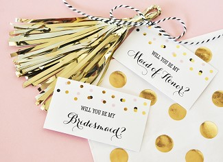 Will You Be My Bridesmaid/Maid of Honor? Tags & Tassels (set of 6)