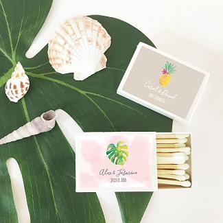 Personalized Tropical Beach Match Boxes (set of 50)