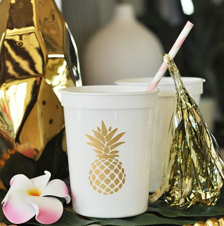 Pineapple Party Cups (set of 25)