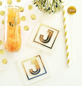 Monogram Coasters (set of 2)