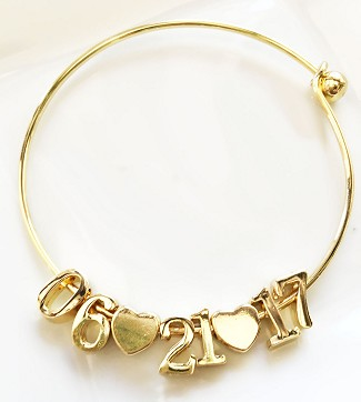 Personalized Gold Date Bracelet
