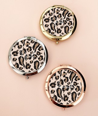 Personalized Leopard Print Compact