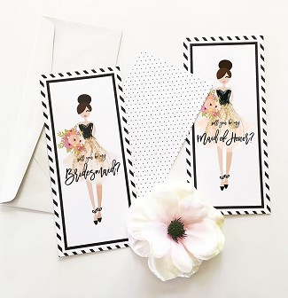 Bridesmaid & Maid of Honor Cards (set of 4)