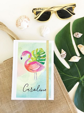 Personalized Tropical Beach Journal