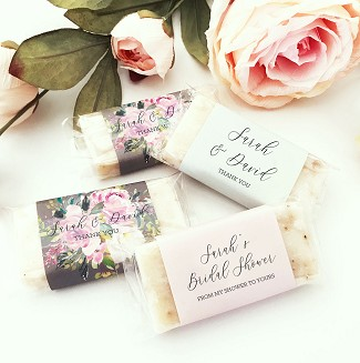 Personalized Mini Soap Favors (set of 5)